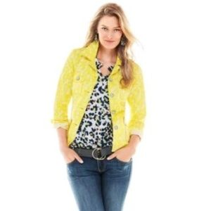 CAbi 2017 Yellow Field of Daisies Jacket small